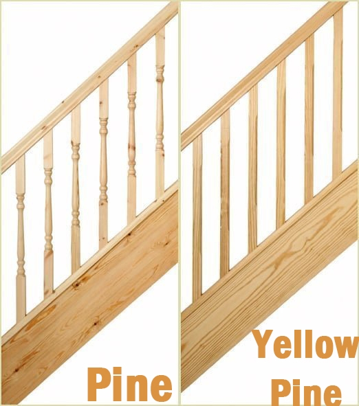 Pine and Yellow Pine Spindles