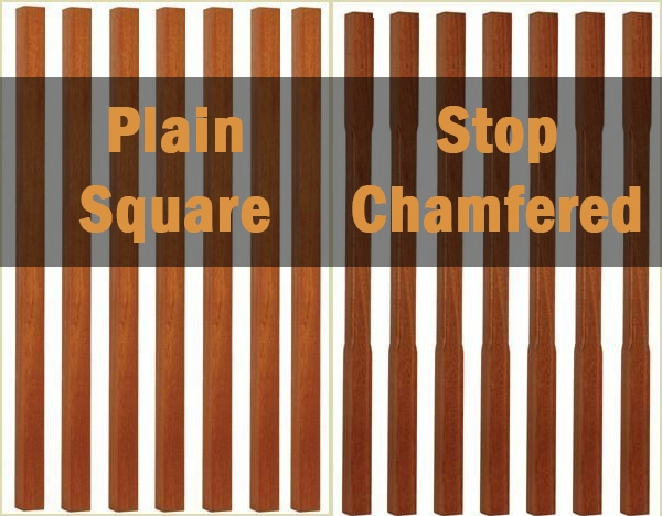 plain and chamfered spindles pear stairs, buy online