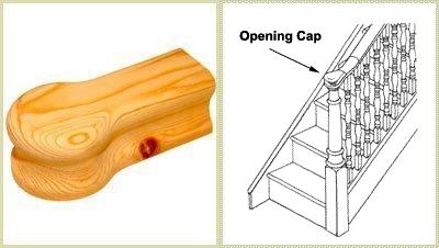 opening cap, handrail cap, handrail opening cap
