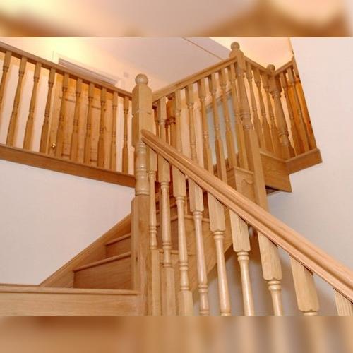 american white oak, white oak staircase, pear stairs