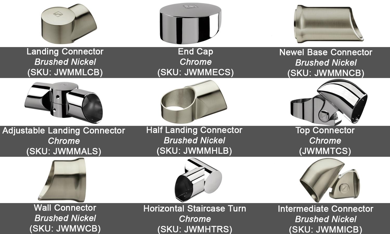 fusion connectors, richard burbidge connectors, balustrade connectors