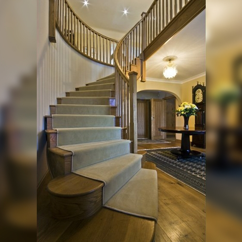 curved oak stairs, curved staircase, staircase design