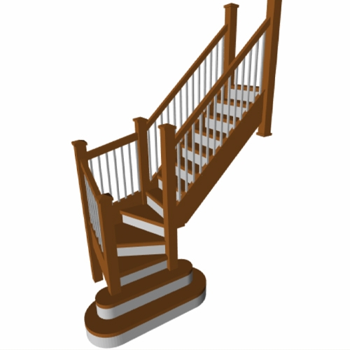staircase turn, staircase winder, online stairs