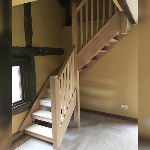 european oak, european oak staircase, pear stairs