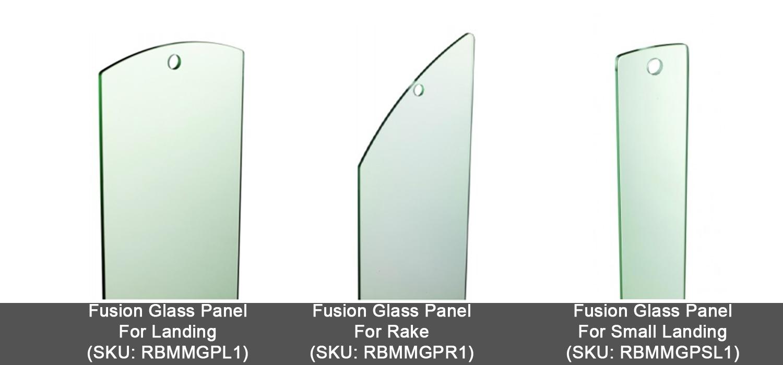 glass panel balustrade, fusion glass