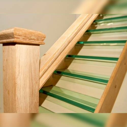 Oak and Glass Staircase, oakstairs, glass stairs