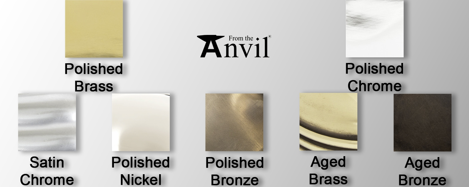 period finishes for metal work from the anvil at Pear Stairs