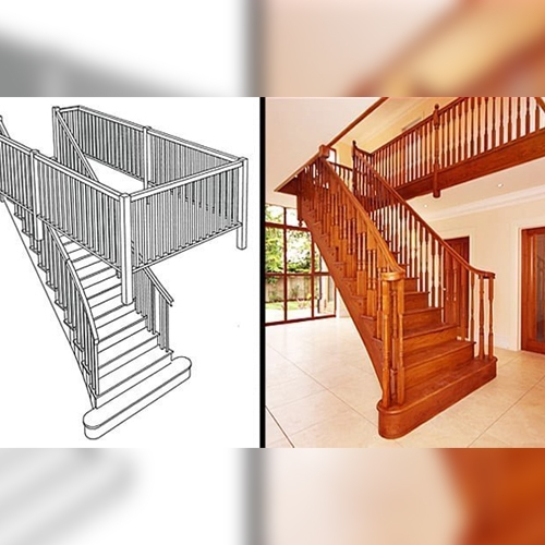 splayed staircase, curved staircase, pear stairs, design staircase