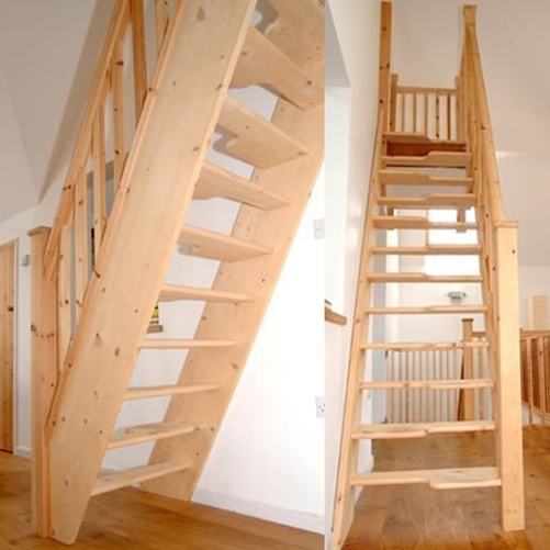 Madrid Wooden Space Saver Staircase Kit Loft Stair: Space Saver Staircases & Space Saving Spiral Stairs UK