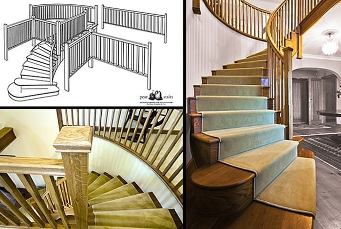 Curved stairs wooden curved staircase manufacturers for Arched staircase