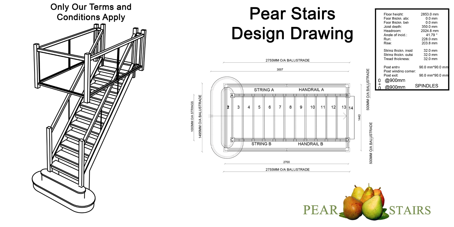oak staircase design, staircase design drawings,