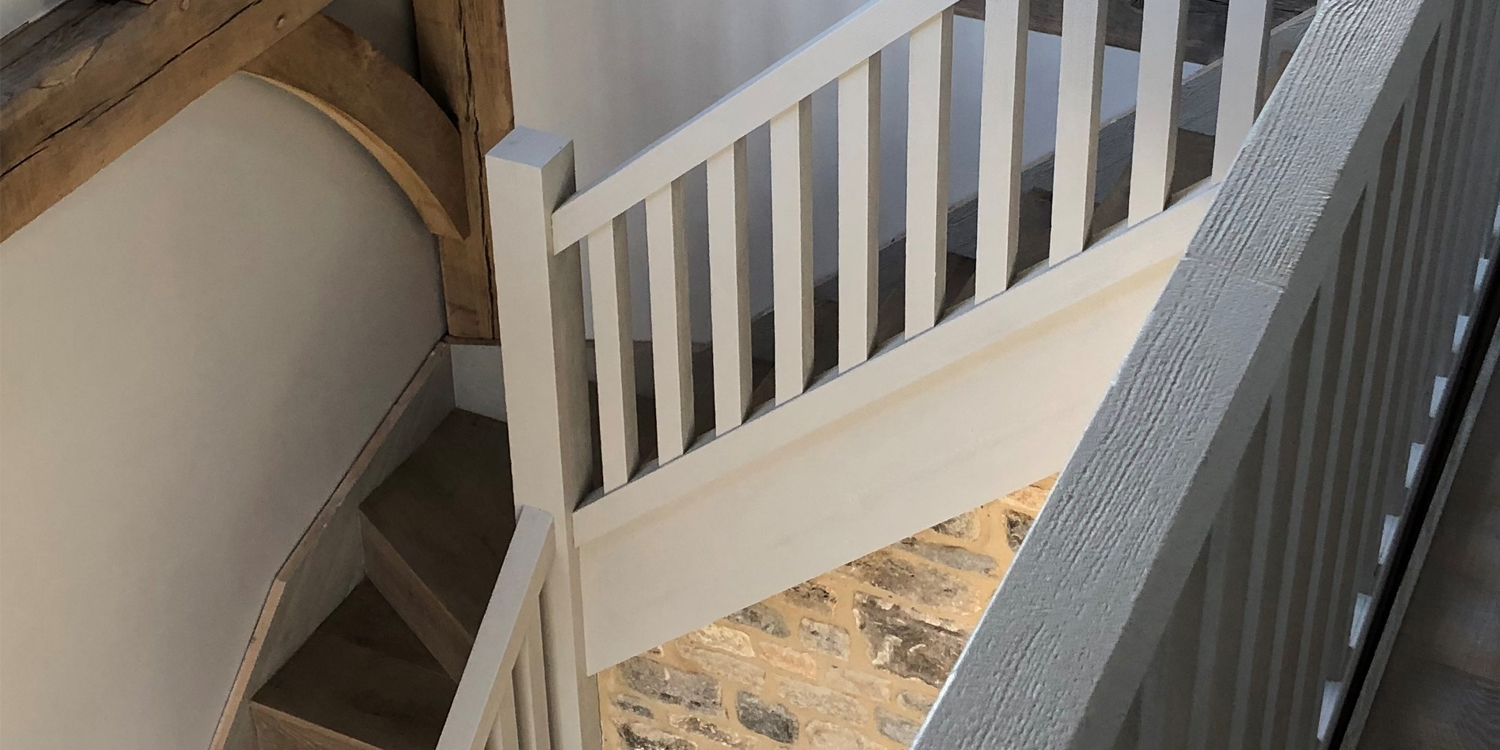 simple wooden staircase design