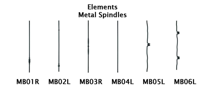 metal spindles, elements spindles, metal ablusters