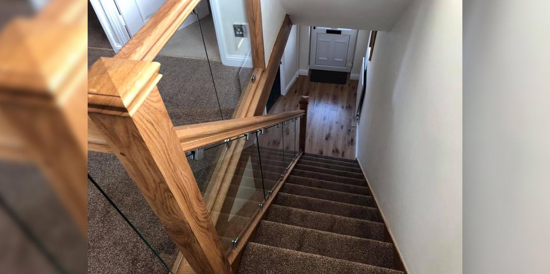 oak staircase, oak handrail, oak newel, staircase case study