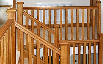 European oak staircase by Pear Stairs