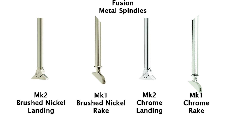 fusion spindles, metal spindles, metal baluster