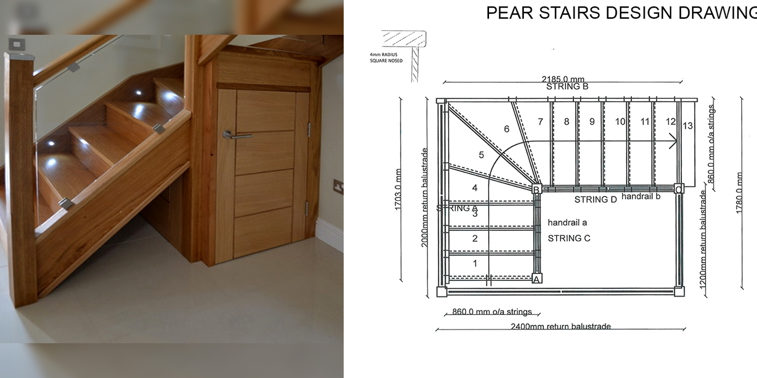 Glass staircase, staircase design, online staircase, pear stairs