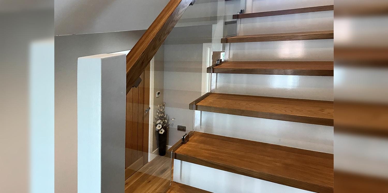 glass balustrade, panel, staircase design, chester