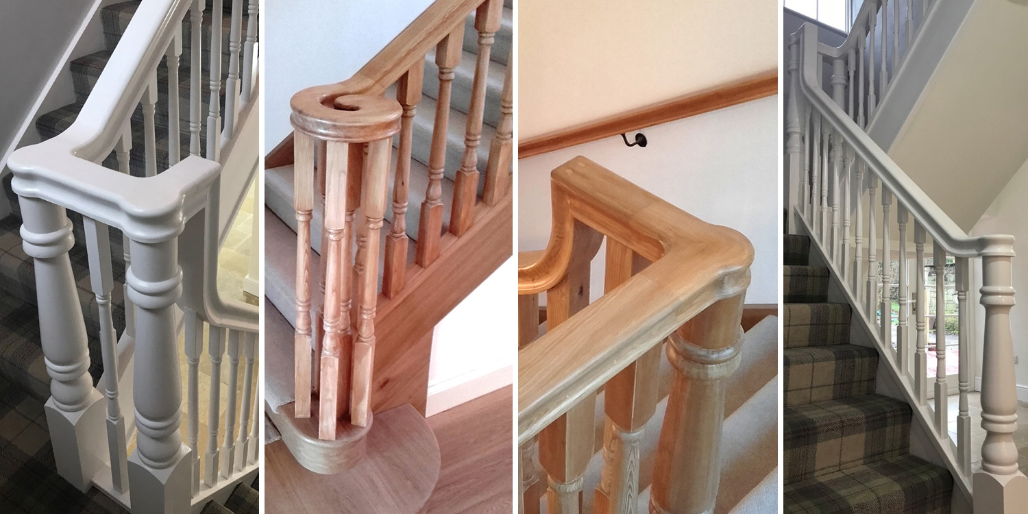 continuous handrail, handrails from pear stairs