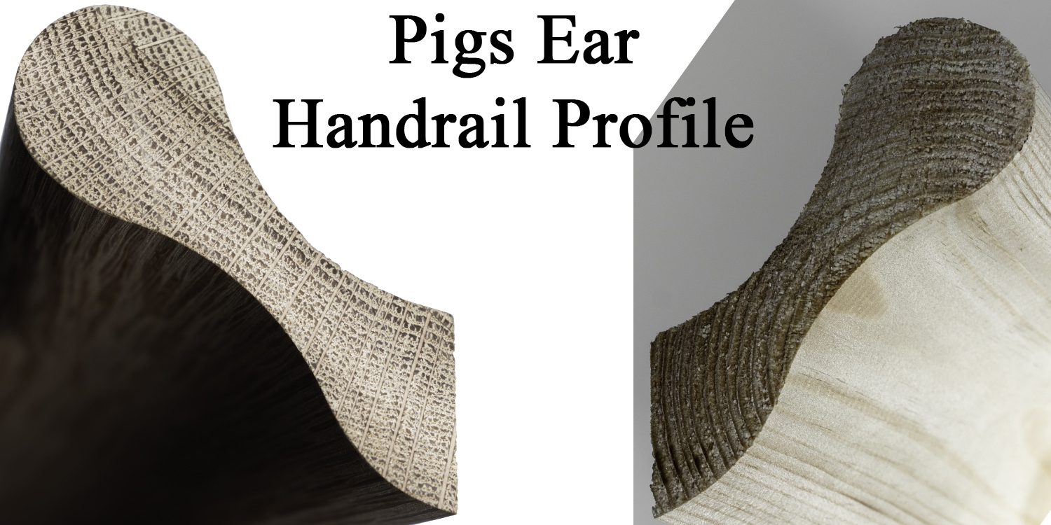 pigs ear handrails, pear stairs handrails