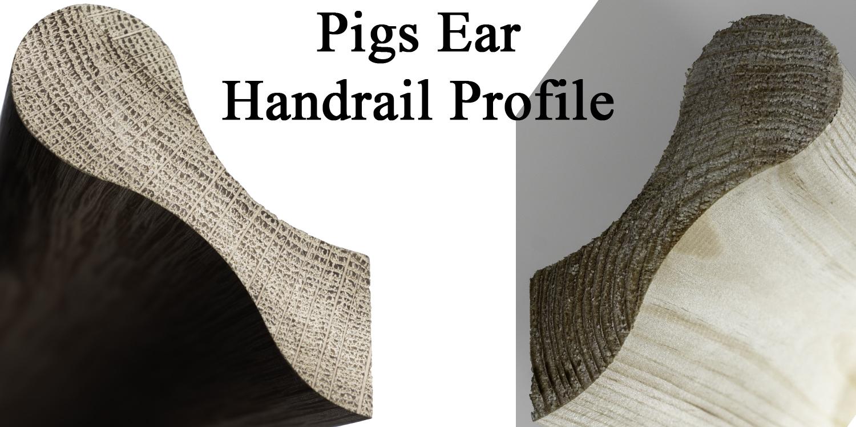 pigs ear handrails, pear stairs handrails