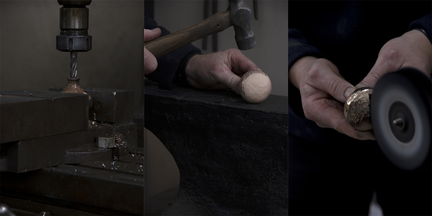 hand forged, ironmongery hammered, from the anvil, pear stairs