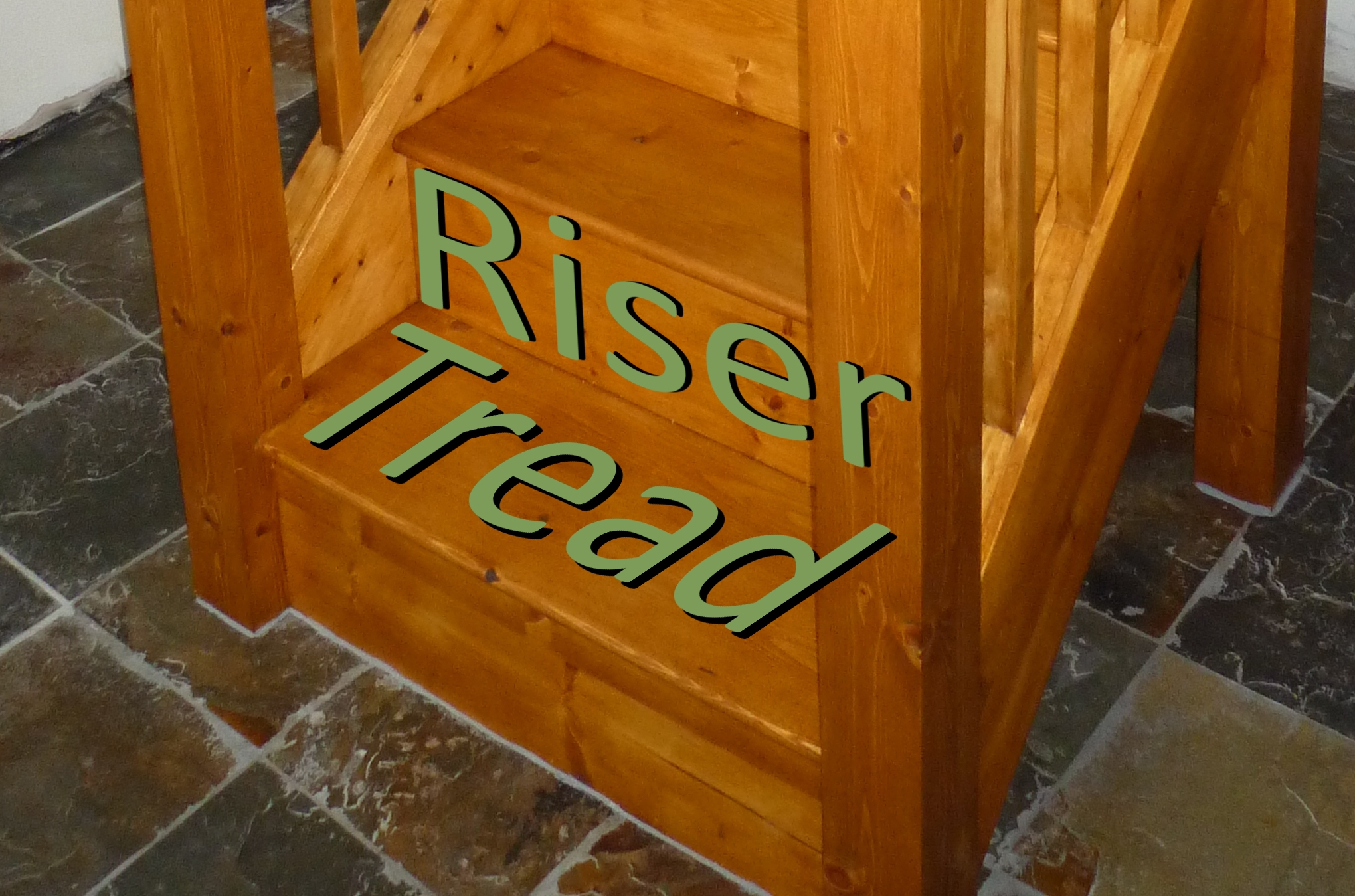 Treads and risers
