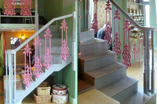 Staircases with coloured parts can give your home a unique look and make a great focal point