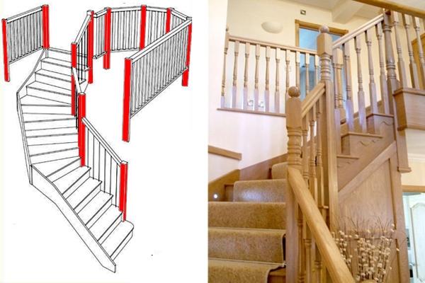 Newel posts help to strengthen balustrades