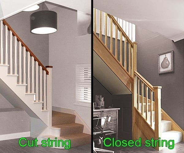 Cut string and closed string stairs