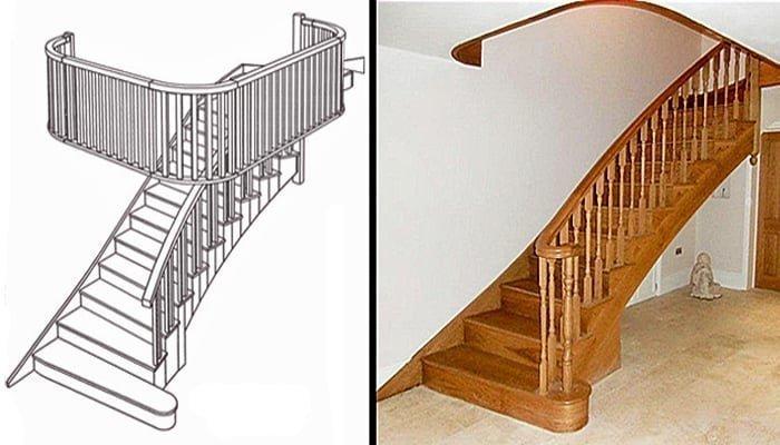 Splayed stairs