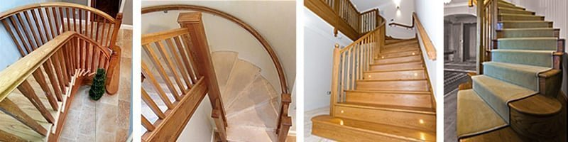 All our curved stairs are custom-made