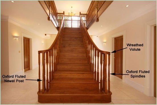Oxford fluted newel posts