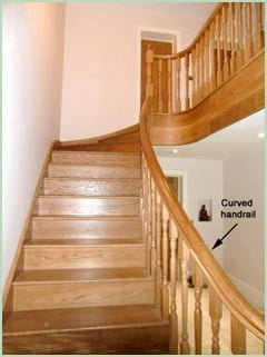 Curved Staircase Handrail