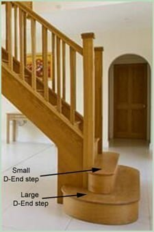 Bullnose step for Curved Staircase