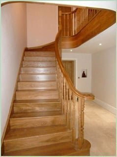 Carrodale - Splayed Curved Staircase from Pear Stairs