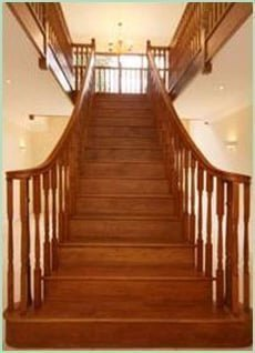 Mitchell Staircase - Splayed Curved Staircase from Pear Stairs