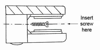 Glass clamp with screw