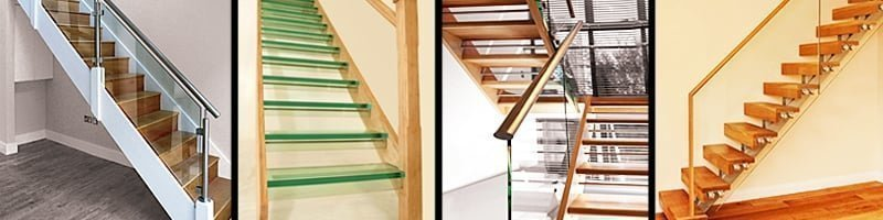 Glass stairs banner