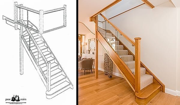 Glass Staircase Amp Glass Spiral Stair Cases Uk Pear Stairs