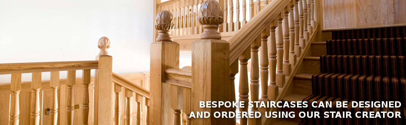 Bespoke staircases can be designed and ordered using our Stair Creator