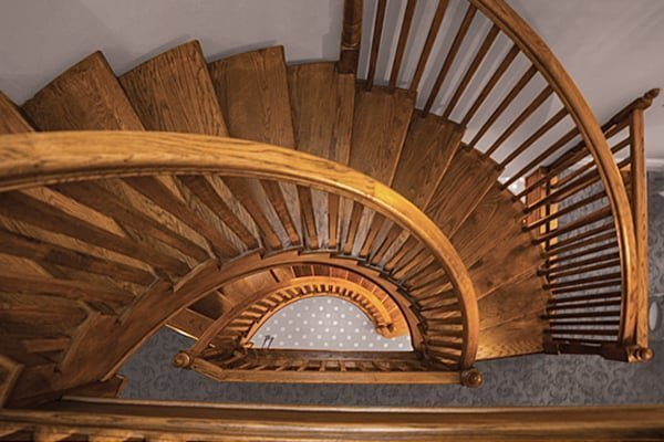 Stained oak staircase by Pear Stairs