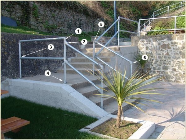 steps with barrier
