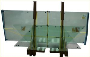 glass panels for the rake of the staircase are usually delivered with the staircase