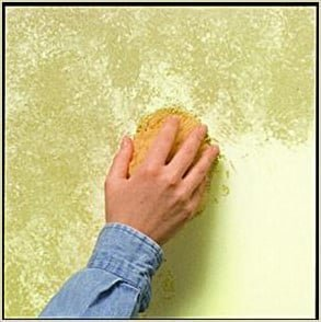 paint finishes - sponging