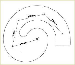 mark the position of the four spindles