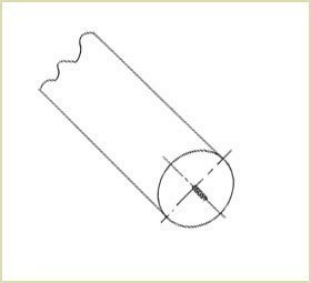Drive a screw into the centre of the newel (Volutes and volute newels)