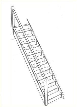 Illustration of a new staircase