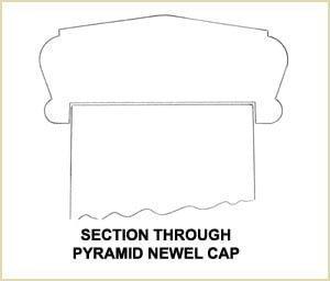 Install Newel Caps - pyramid newel cap