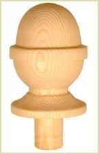 Install Newel Caps - Acorn Newel Cap